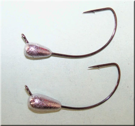 17 pk 1//64 oz No Collar Fly Tying Crappie Trout Fishing Jigs Bronze Sickle Hooks
